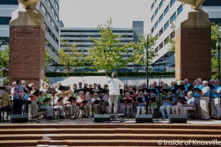 "J.T. O'Connor Senior Center ""Singing Seniors,"" Dogwood Arts Festival, Market Square, Knoxville, April 2018"