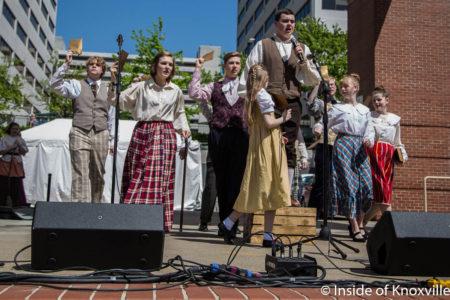Knoxville Children's Theatre, Dogwood Arts Festival, Market Square, Knoxville, April 2018