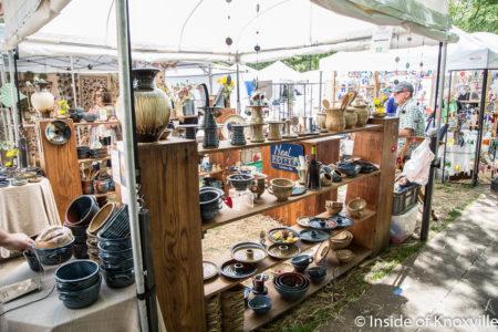 Neal Pottery, Dogwood Arts Festival, Market Square, Knoxville, April 2018