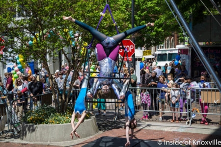 One World Circus, Dogwood Arts Festival, Market Square, Knoxville, April 2018