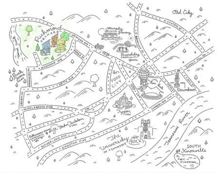 Paris Woodhull Map of Richmond Orchard