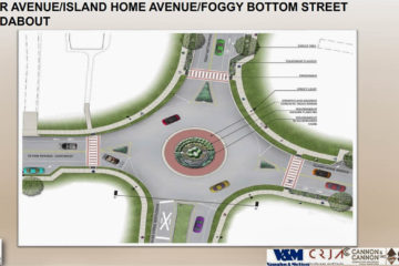 Rendering of Proposed Roundabout, Sevier Avenue Streetscape Project, Knoxville, April 2018