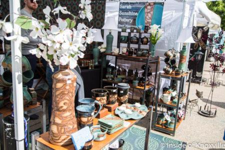Sarah Sunshine Pottery, Dogwood Arts Festival, Market Square, Knoxville, April 2018
