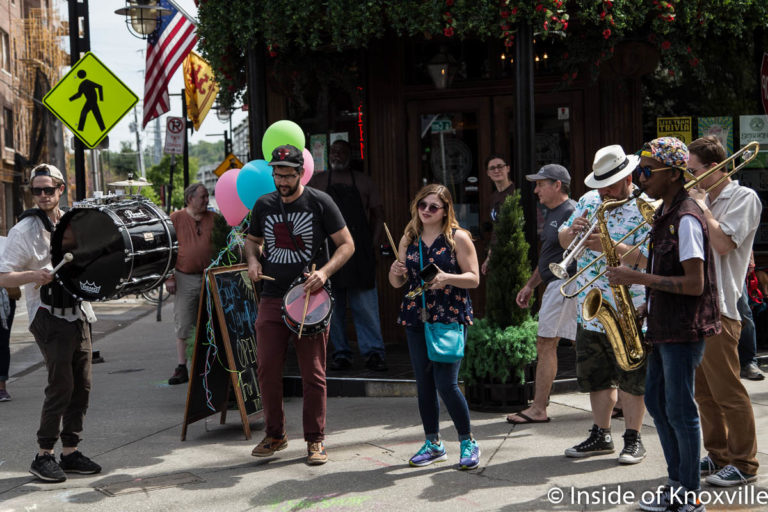 The Cosmic Collective, Sidewalk Sideshow, Old City, Knoxville, April 2018