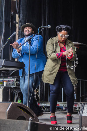 The War and Treaty, Cripple Creek Stage, Rhythm n Blooms Festival, Knoxville, April 2018