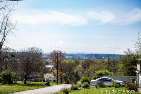 View from Richmond Orchard, Richmond and McTeer, Knoxville, April 2018
