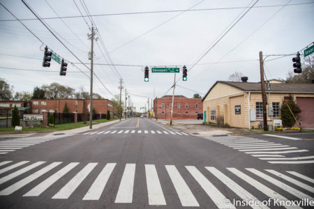 West End of the Sevier Avenue Streetscape Project, Knoxville, April 2018