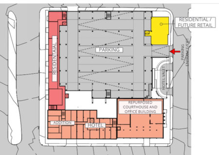 2nd Level Site Plan, Proposed Supreme Court Site Development, Knoxville, April, 2018