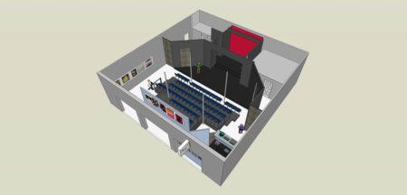 Interior Rendering, Holler Performing Arts Studio