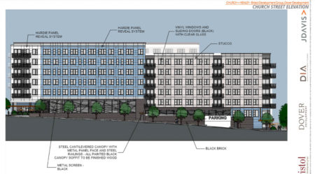 Church Street Elevation, Proposed Supreme Court Site Development, Knoxville, April, 2018