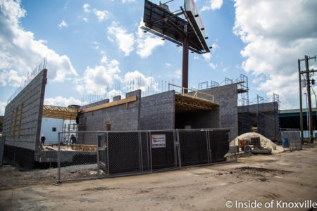 Construction of Mews II, Magnolia and Ogden, Knoxville, May 2018