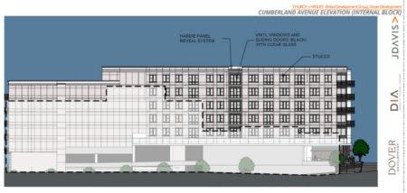 Cumberland Avenue Elevation, Proposed Supreme Court Site Development, Knoxville, April, 2018
