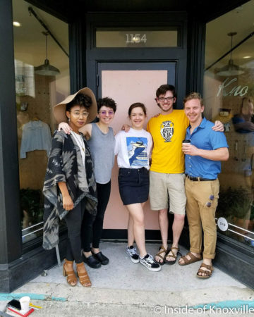 Daje Morris, Ryan-Ashley Anderson, Paris Woodhull, Eli Frederick and Joey Jennings, Smart and Becker, 1154 McCalla, Knoxville, May 2018