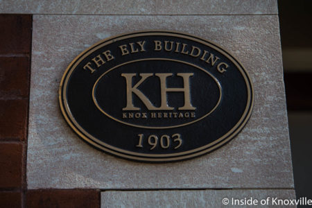 Ely Building, 406 W. Chruch Avenue, Knoxville, May 2018