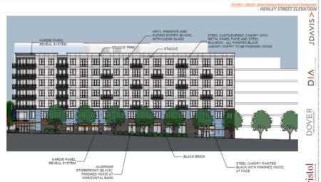 Henley Street Elevation, Proposed Supreme Court Site Development, Knoxville, April, 2018