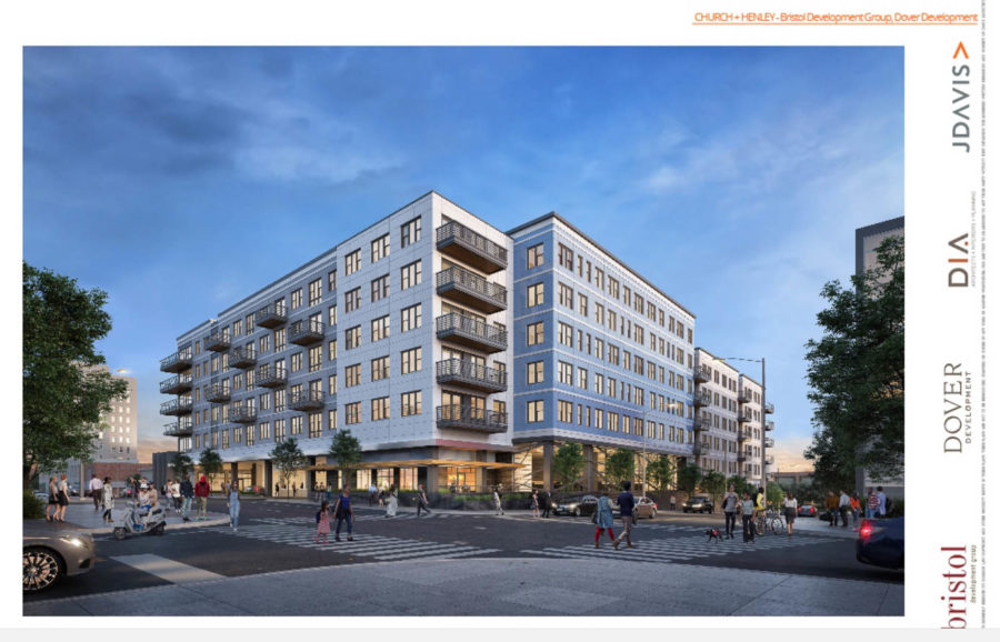 Locust and Church Rendering, Proposed Supreme Court Site Development, Knoxville, April, 2018