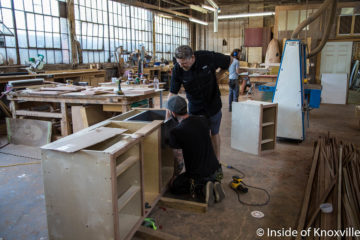 McGilvray Woodworks at Ironwood Studio, 119 Jennings, Knoxville, May 2018