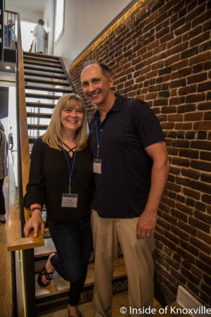 Owners Kelley and Eddie Reymond at the Ely Building, 406 W. Chruch Avenue, Knoxville, May 2018