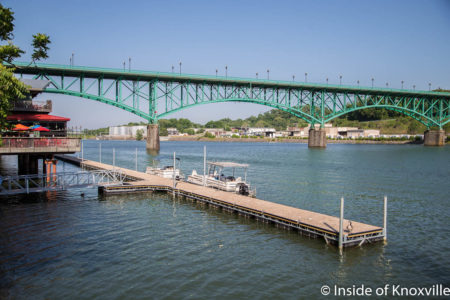 Rebuilt Dock Beside Calhouns, Tennessee River, Knoxville, May 2018