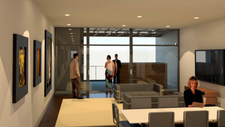 Rendering of the Interior of Unit at The Overlook