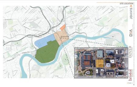 Site Location, Proposed Supreme Court Site Development, Knoxville, April, 2018