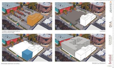 Site Massing Diagram,  Proposed Supreme Court Site Development, Knoxville, April, 2018