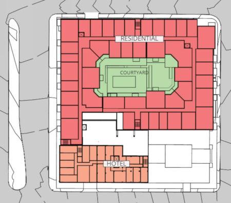 Upper Level, Proposed Supreme Court Site Development, Knoxville, April, 2018