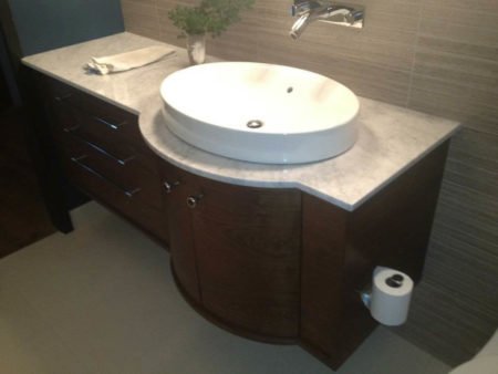 Vanity in Downtown Loft by McGilvray Woodworks (Photo Courtesy John McGilvray)